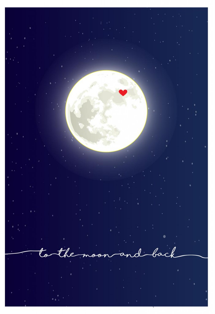 Valentines Day Card Moon Download Free