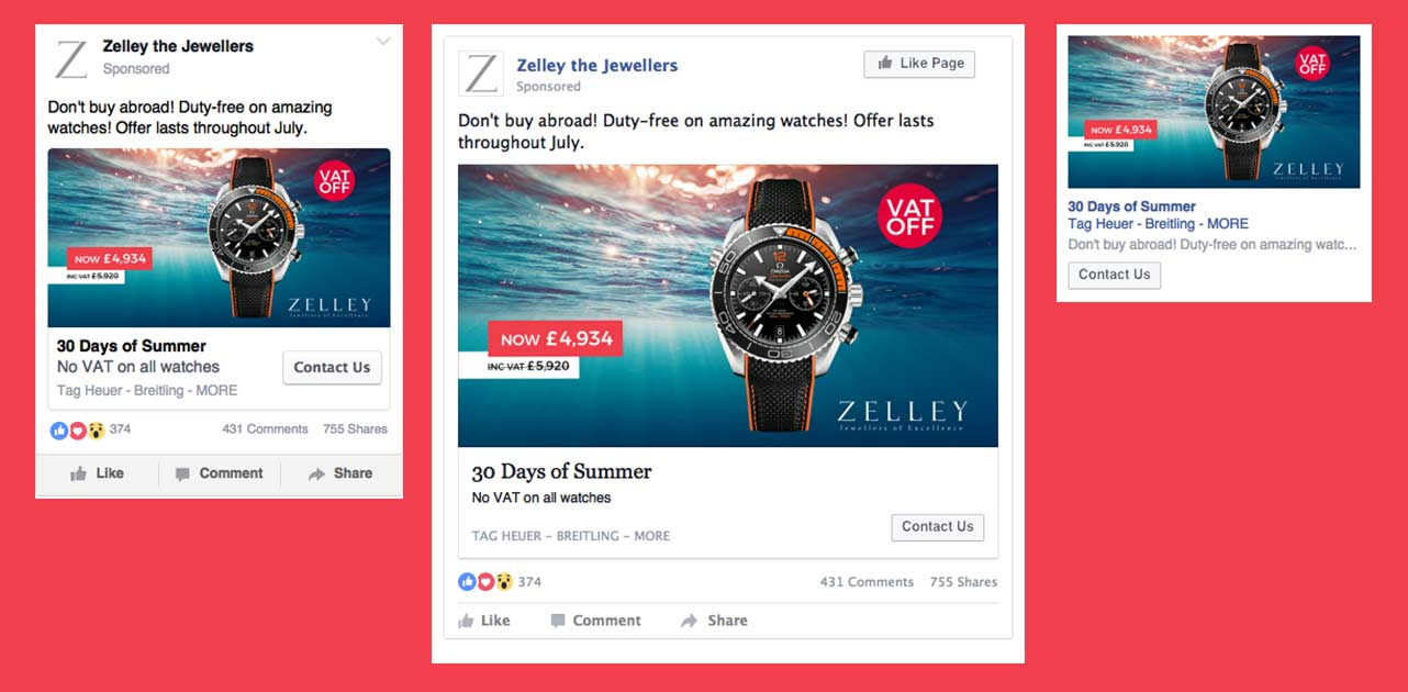 Days of Summer Facebook Ads